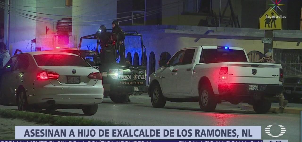 FOTO: Ejecutan a hijo de exalcalde priista en Nuevo León, 18 marzo 2019