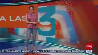 Foto: El Clima 'A las Tres' con Daniela Álvarez del 21 de marzo de 2019