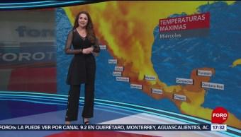 Foto: El clima, con Mayte Carranco del 27 de marzo de 2019