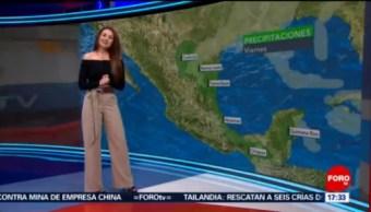 Foto: El Clima Las Noticias FOROtv Mayte Carranco Hoy 29 de Marzo 2019