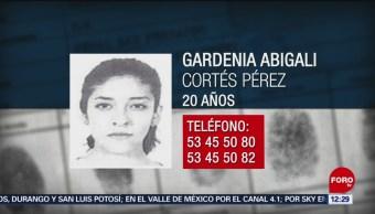 Emiten alerta por Gardenia Abigali Cortés en CDMX
