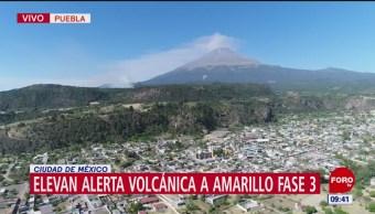 ¿En qué consiste la alerta volcánica Amarillo Fase 3?