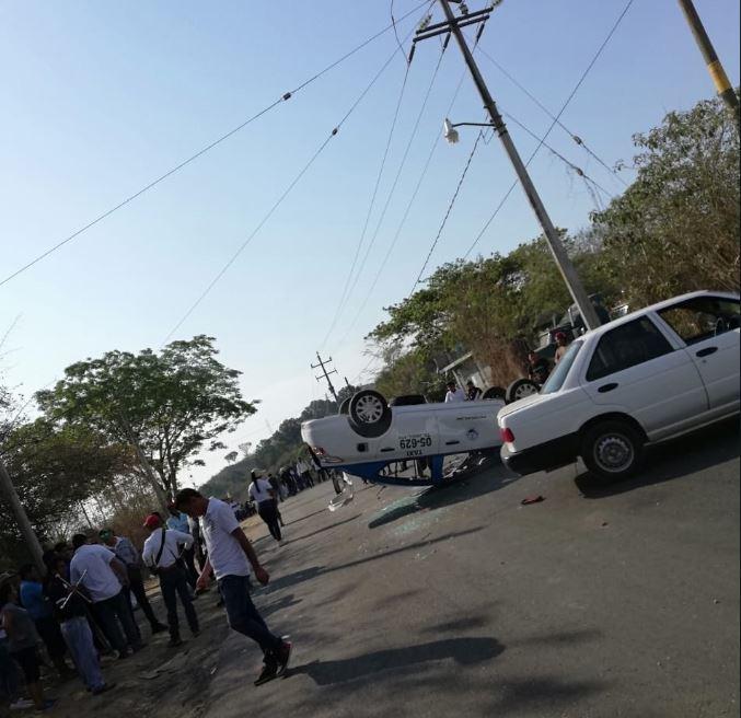 Enfrentamiento entre transportistas de Oaxaca deja dos lesionados