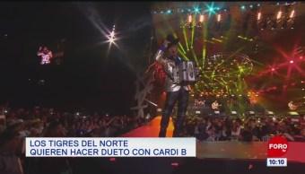 #EspectáculosenExpreso: Los Tigres del Norte quieren hacer dueto con Cardi B