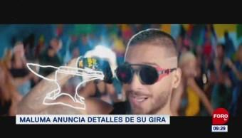 Foto: Maluma inicia gira internacional