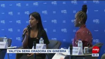 Foto: Yalitza es oradora en Ginebra
