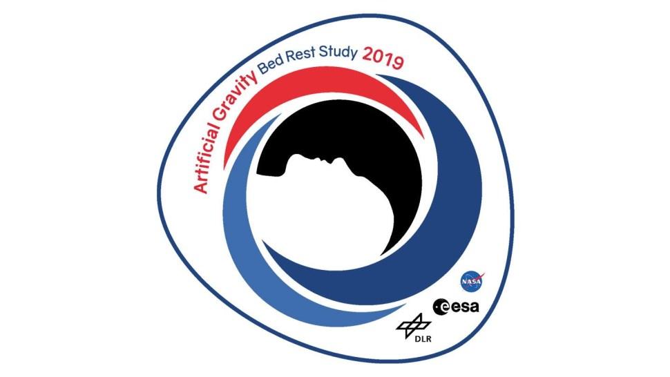 Este es el logo del programa de 'Estudio de Gravedad Artificial y Reposo en Cama 2019' (DLR)