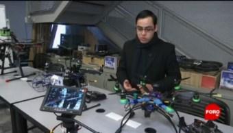 FOTO: Estudiantes mexicanos exploran nuevos usos de drones, 10 marzo 2019