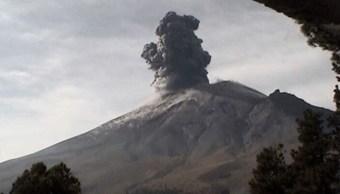 Foto: el volcán Popocatépetl arrojó una columna de ceniza este sábado, 16 marzo 2019