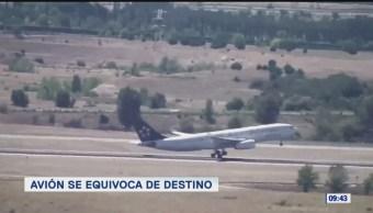 Extra, Extra: Avión se equivoca de destino