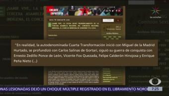 Foto: EZLN critica al gobierno de López Obrador