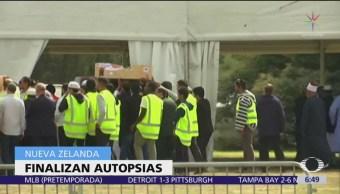 Finalizan autopsias de víctimas de Nueva Zelanda