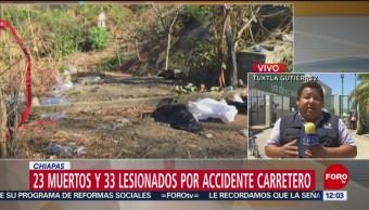Foto: Fiscalía de Chiapas confirma 23 migrantes muertos por accidente carretero