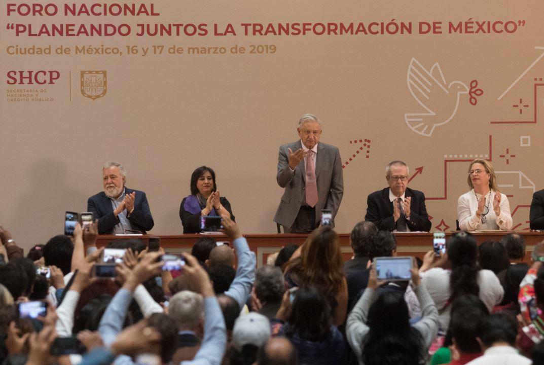 Foto: AMLO detalló en Palacio Nacional los lineamientos del Plan Nacional de Desarrollo 2019-2024, el 17 de marzo de 2019 (Cuartoscuro)