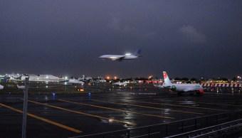 Foto: El Aeropuerto Internacional de la Ciudad de México (AICM) canceló temporalmente sus operaciones ante la lluvia de esta tarde, el 22 de mayo de 2018