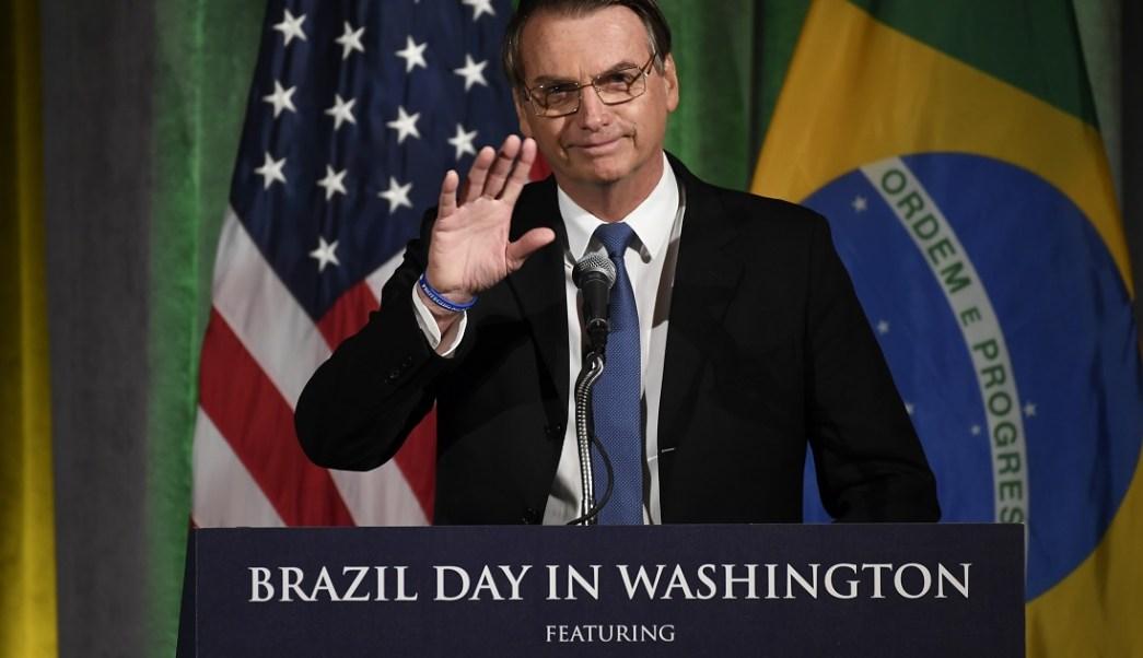 Foto: El presidente de Brasil, Jair Bolsonaro, habla en la Cámara de Comercio de Washington. El 18 de marzo de 2019