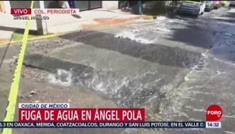 Foto: Fuga de agua en la colonia el Periodista
