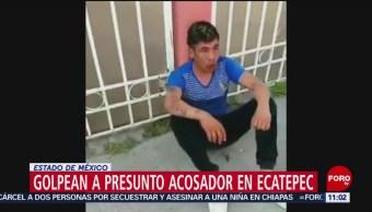 Golpean a presunto acosador en Ecatepec, Estado de México