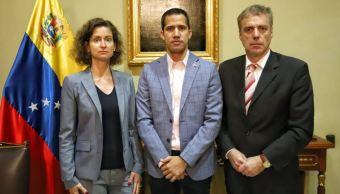 Foto: El autoproclamao presidente interino de Venezuela Juan Guaidó, se reúne con el embajador de Alemania, Daniel Kriener Martín,y la encargada de negocios Daniela Vogl. 7 marzo 2019