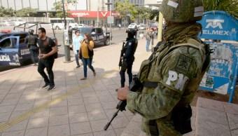 Foto: Elementos militares y policíacos refuerzan la seguridad en uno de ls estados de la República Mexicana, 7 marzo 2019