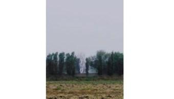 Foto: El chorro de gasolina alcanzó poco más de 20 metros de altura, el 16 de marzo de 2019 (Noticieros Televisa)