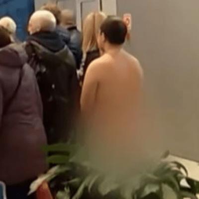 VIDEO: Detienen a hombre desnudo que quería abordar avión