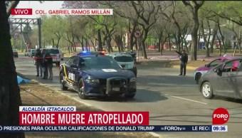 Hombre muere atropellado en la alcaldía Iztacalco