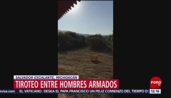 Hombres armados se enfrentaron a tiros en Ixtaro, Michoacán
