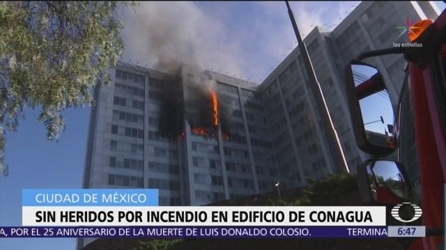 Foto: Incendio afecta edificio de Conagua en CDMX