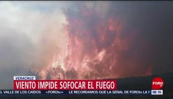 Incendio forestal afecta área natural protegida en Las Vigas, Veracruz