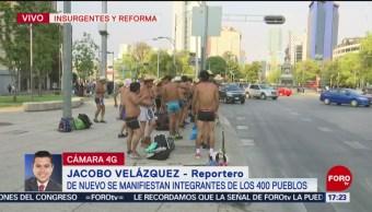 Foto: Integrantes de los 400 pueblos se manifiestan en Reforma