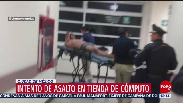 Foto: Intento de asalto en tienda de cómputo en CDMX termina con tamalero