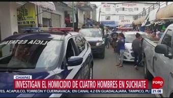 Foto: Homicidio Hombres Suchiate Chiapas 5 de Marzo 2019