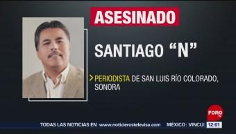FOTO: Investigan homicidio de periodista en Sonora, 16 marzo 2019