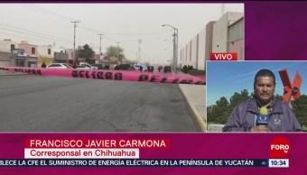 FOTO: Investigan homicidio de tres policías en Chihuahua, 9 marzo 2019