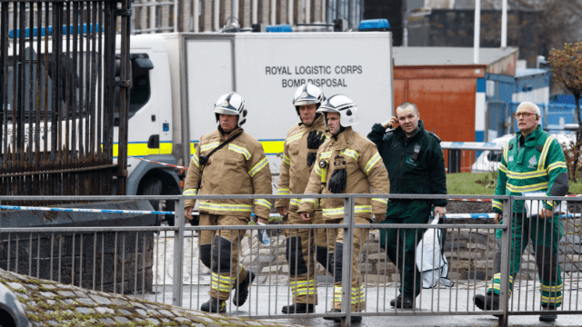Foto: Investigan paquetes sospechoso en Universidad de Glasgow, 6 de marzo de 2019, Escocia