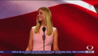 Ivanka Trump acude a cena de prensa en lugar de Trump