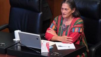Jesusa Rodríguez, senadora suplente de Olga Sánchez Cordero por Moren, durante la sesión del pleno en el Senado de la República (Cuartoscuro)
