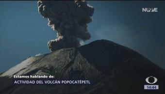 Foto: La actividad del Volcán Popocatépetl