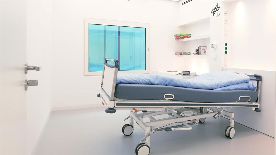La cama donde 'descansarán' los voluntarios, en una fotografía del sitio oficial de la convocatoria (DLR)