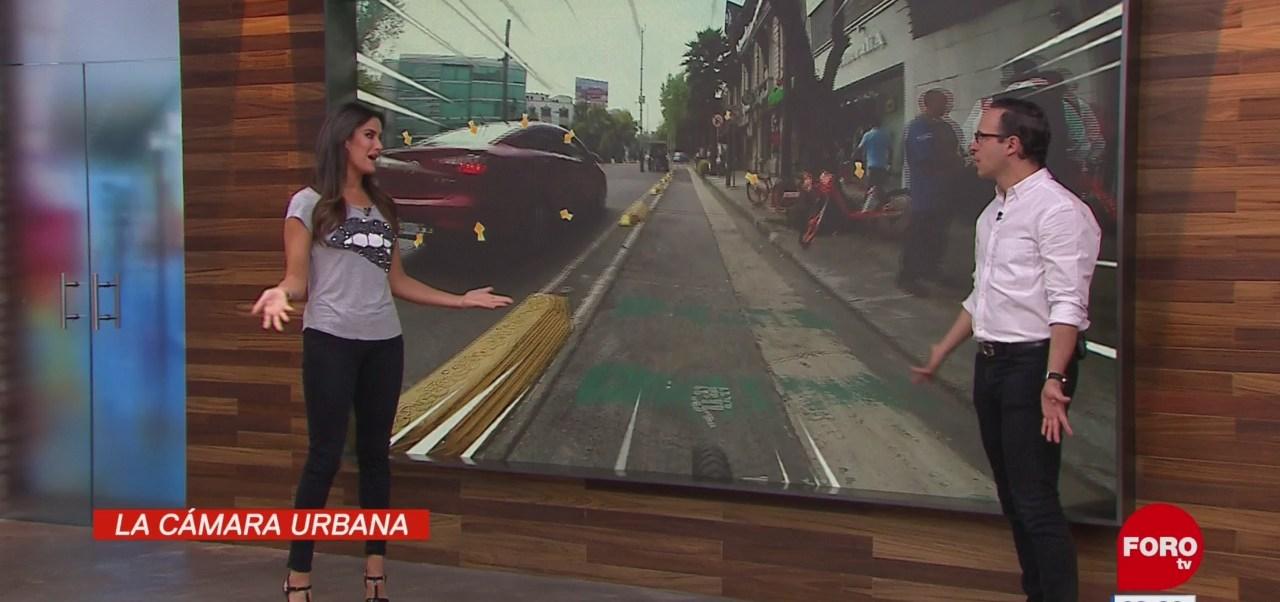 #LaCámaraUrbana en Expreso: Bicicletas y patines estacionados en la banqueta