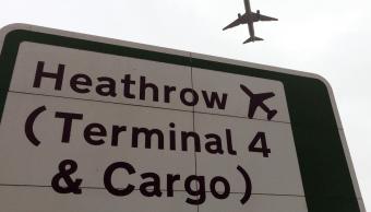 Foto: Letrero en el aeropuerto de Heathrow en Londres, 5 de junio de 2018, Reino Unido