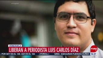 Foto: Liberan al periodista Luis Carlos Díaz detenido en Venezuela