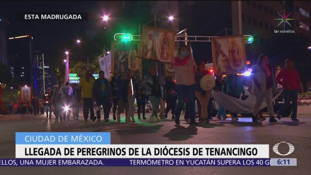 Llegan peregrinos de la Diócesis de Tenancingo, Edomex