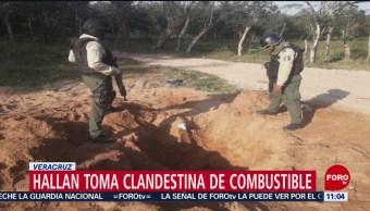 FOTO: Localizan toma clandestina de hidrocarburo en Soconusco, Veracruz, 2 marzo 2019