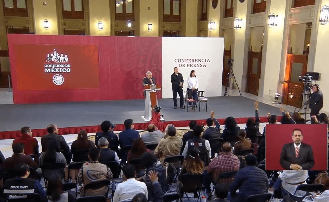 Foto: López Obrador en conferencia prensa, 18 de marzo de 2019, Ciudad de México