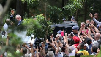 Foto: Luiz Inácio Lula da Silva llegó este sábado al cementerio de Sao Paulo para acudir al entierro de su nieto., 2 marzo 2019