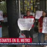 Foto: Manifestaciones en el Metro de la CDMX