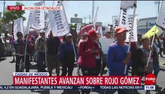 Foto: Manifestantes bloquean vialidad en Rojo Gómez, CDMX
