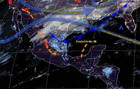 Foto: El frente frío 48 ocasionará tormentas fuertes a muy fuertes con descargas eléctricas y granizadas en el noreste, centro y oriente de México, 31 marzo 2019